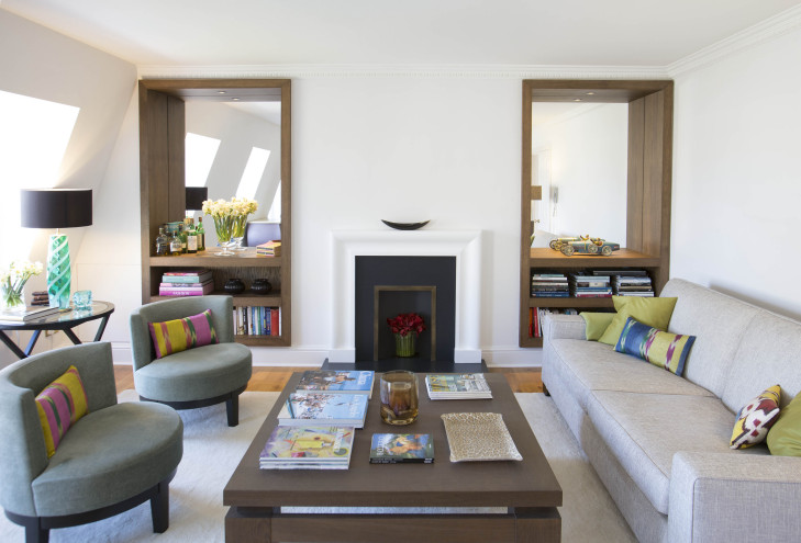 Alcoves and Fireplace