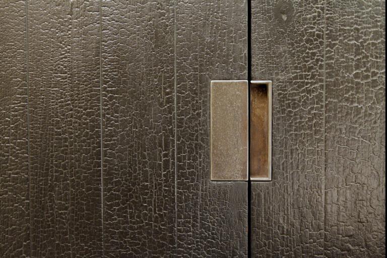 Shou Sugi Ban door handle detail