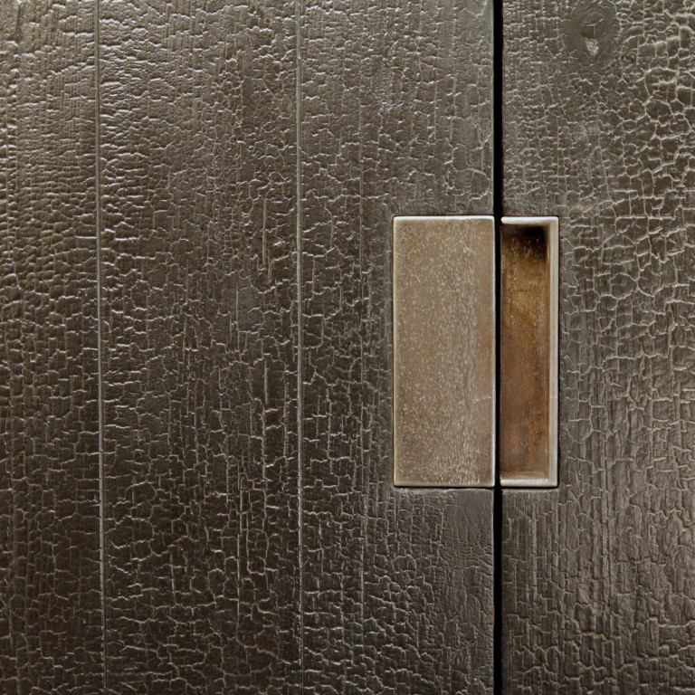 Shou Sugi Ban door handle detail
